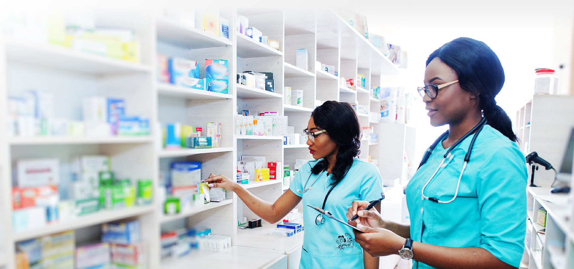 pharmacists checking the medicines